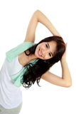 Happy young woman doing exercise Royalty Free Stock Photo