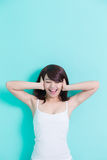 Happy young woman enjoy Royalty Free Stock Photo