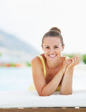 Happy young woman enjoying vacation Stock Photography