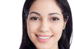 Happy Young Woman Face Royalty Free Stock Photo