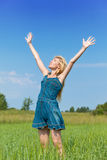 The woman in summer day Royalty Free Stock Photography