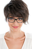Happy young woman with glasses Royalty Free Stock Photo