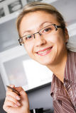Happy young woman in glasses Stock Photography