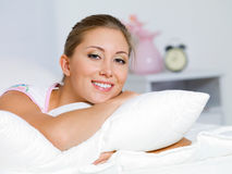 Happy young woman having a rest Stock Photography