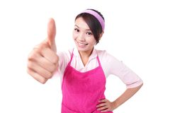 Happy young woman housewife mother Royalty Free Stock Photo