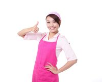 Happy young woman housewife mother Stock Image