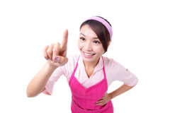 Happy young woman housewife mother Royalty Free Stock Image