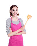 Happy young woman housewife Royalty Free Stock Images