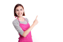 Happy young woman housewife Royalty Free Stock Photography