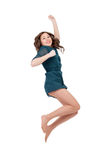 Happy young woman jumping Stock Photography