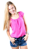 Happy young woman looking at the camera Royalty Free Stock Images