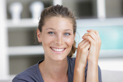 Happy young woman with a lovely smile Royalty Free Stock Image