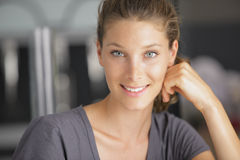 Happy young woman with a lovely smile Stock Images