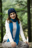 Happy young woman in nature Royalty Free Stock Photography