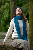 Happy young woman in nature Royalty Free Stock Images