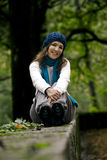 Happy young woman in nature Stock Image