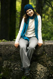 Happy young woman in nature Stock Photos