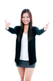 Happy Young Woman Offering Hug Royalty Free Stock Photo