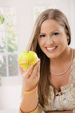 Happy Young Woman On Diet Royalty Free Stock Photo
