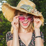 Happy young woman outdoor Stock Image