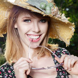 Happy young woman outdoor Royalty Free Stock Photo