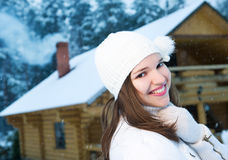 Happy young woman outdoors. Picture of a Happy young woman outdoors Stock Images