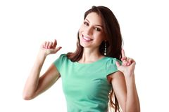 Happy young woman Royalty Free Stock Photo