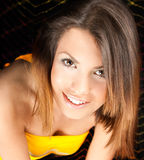 Happy young woman posing Royalty Free Stock Image