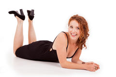Happy young woman reclining Stock Photos