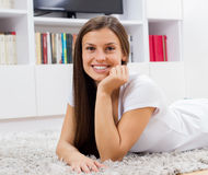 Happy Young Woman Relax Stock Image