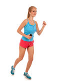 Happy young woman running Stock Image