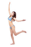 Happy young woman in sexy swimsuit Royalty Free Stock Photos