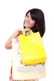 Happy young woman shopping. Royalty Free Stock Image
