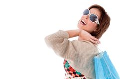 Happy young woman with shopping bags Royalty Free Stock Photo