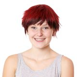Happy young woman with short hair Royalty Free Stock Images