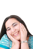 Happy young woman smiling Stock Image