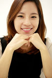 Happy young woman smiling Stock Photography