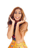 Happy young woman smiling. Royalty Free Stock Image