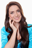 Happy young woman smiling Stock Images