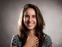 Happy young woman smiling Royalty Free Stock Image