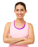 Happy Young Woman In Sportswear Royalty Free Stock Photography