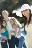 Happy Young Woman In Summer Dress Stock Photography