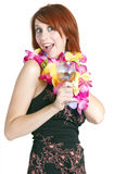 Happy Young Woman Vacationer Royalty Free Stock Images