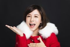 Young woman in winter clothes royalty free stock photo