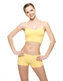 Happy Young Woman With Beautiful Slim Body Royalty Free Stock Photos