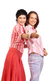 Happy young women Stock Image