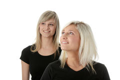 Happy young women friends laughing. Royalty Free Stock Photos