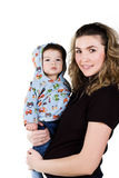 Happy young women and her son Royalty Free Stock Photography