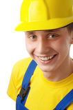 Happy young worker fold his arms and smile Stock Photo