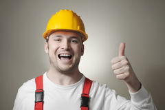 Happy young worker Royalty Free Stock Image